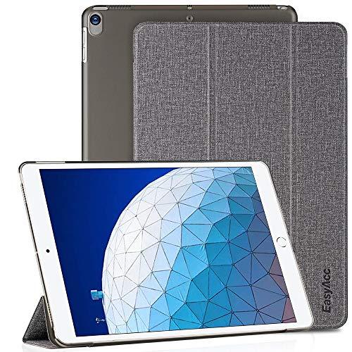 EasyAcc Hoesje Hoes voor iPad Air 3 Beschermhoes, Ultradunne Doorschijnende Matte Achterkant met Automatische Wek- / Slaapfunctie Compatibel voor iPad Air 3 2019 10.5 inch (3e generatie) Case (grijs)