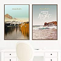 レイクマウンテンクラウドウォール アートパネル風景ポスター写真北欧のキャンバスプリントリビングルームホームルーム壁の装飾絵画インテリア40x60cmx2フレームなし