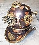 Tanishka Exports Nautical Scuba Diving Helmet Wearable Divers Diving Helmet Antique Finish Deep Sea Helmet