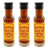 Mexican Tears - Red Habanero Sauce - 3er Pack, scharfe Sauce aus Chili & Meersalz, perfekt als Grill-Zubehör für BBQ Sauce, Pulled Pork & zum Aufpeppen von Chicken Wings [3x100ml...