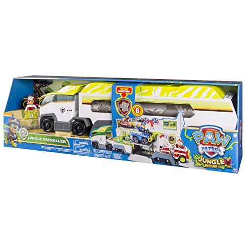 Spin Master Paw Patrol Jungle Patroller De plástico vehículo de Juguete - Vehículos de Juguete (De plástico, Gris, Blanco, Amarillo, 3 año(s), Niño, Interior, Batería)