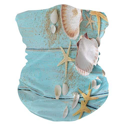TropicalLife SunsetTrip Summer Beach Seashell Starfish Pañuelo multifuncional para la cara polvo UV cuello polaina diadema para deportes senderismo correr ciclones