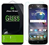 [2-Pack] Dmax Armor for ZTE Warp 7 Screen Protector, [Tempered Glass] 0.3mm 9H Hardness, Anti-Scratch, Anti-Fingerprint, Bubble Free, Ultra-Clear