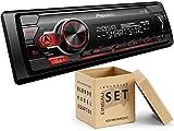 Pioneer MVH-S310BT 1-DIN Autoradio mit Bluetooth ohne CD-Laufwerk Shortbody für Peugeot 206 / 206CC...