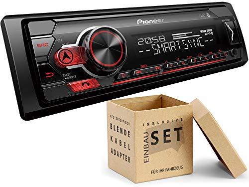 Pioneer MVH-S310BT 1-DIN Autoradio mit Bluetooth ohne CD-Laufwerk Shortbody für Chrysler Sebring JR 2001-2007 schwarz