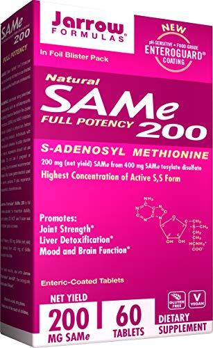 Jarrow Formulas SAM-e, Promotes Joint Strength, Liver Detoxification, 200 mg, 60 Enteric-Coated Tabs