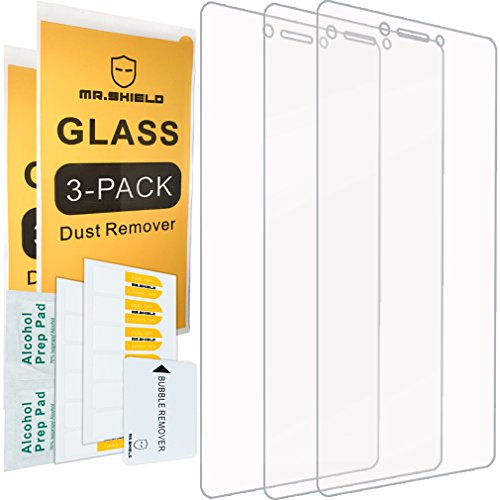 [3-PACK]- Mr.Shield Designed For Lenovo K6 Note [Tempered Glass] Screen Protector [0.3mm Ultra Thin 9H Hardness 2.5D Round Edge] with Lifetime Replacement