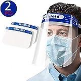 2 Visiere Mascherina Viso Trasparente Paraschizzi Antigoccia in Plastica Visiera Trasparente Protettiva Protegge il viso gli Occhi Bocca da Vento Schizzi Polvere Leggera