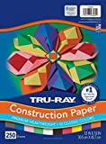 Tru-Ray (P6589-4) Heavyweight Construction Paper Bulk Assortment, 10 Assorted Colors, 12' x 18', 250 Sheets
