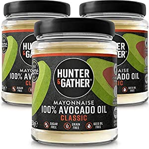 Hunter & Gather Paleo Mayonesa de Aguacate sin Gluten y Azúcar 250G x 3