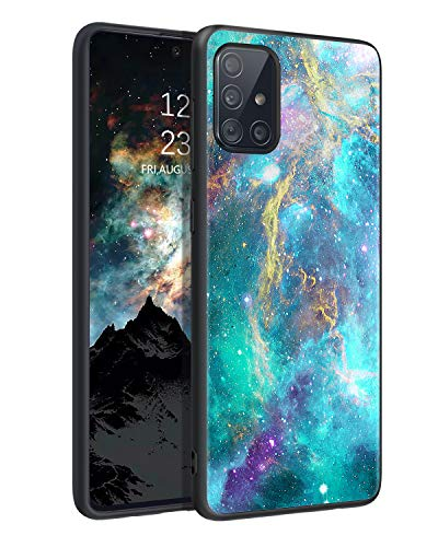 BENTOBEN Samsung Galaxy A71 5G Phone Case [NOT Fit UW Verizon],Slim Fit Glow in The Dark Shockproof Drop Protective Hybrid Hard PC Soft TPU Bumper Women Girls Cover for Galaxy A71(2020), Nebula/Galaxy