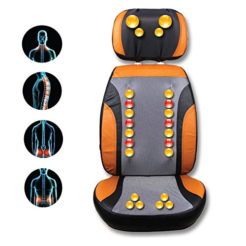 Buy BelleLotus Back Massage Chair Shiatsu Electric Heating Finger Press Back Massage Rolling Vibration for Deep Muscle Relief Adjustable Headrest and Backrest Family + Office