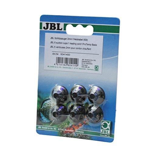 JBL Schlitzsauger 6041400 Halterung für Heizkabel für Aquarien und Terrarien, Diameter 2-4 mm, 6 Stück