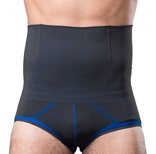 FEOYA - Cinturón Adelgazante Abdominal para Hombre Slip Cinturón Reductor Elástico Moldeador - Gris Azul - XL
