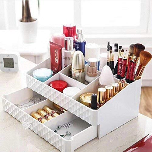 display4top weiß Beauty-Make-up Organizer Kosmetik Zubehör Make Up Aufbewahrungsboxen