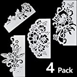 4 Pieces Metal Die Cuts Flowers Cutting Dies Metal Stencil Template Lace Bird Butterfly Mould for DIY Crafts Scrapbook Album Paper Card Embossing
