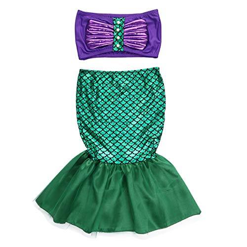 Fantasia Vestido Cauda Pequena Sereia Ariel (2 a 3)