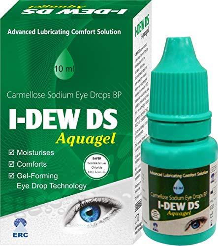 I-DEW DS Aqual Gel Night-time - Gotas oculares de doble resistencia para ojos secos, lubricante sin conservantes - Oferta de invierno 50% de descuento - Adecuado para usuarios de lentes de contacto