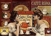 CAFFE ROMA 金属板ブリキ看板警告サイン注意サイン表示パネル情報サイン金属安全サイン