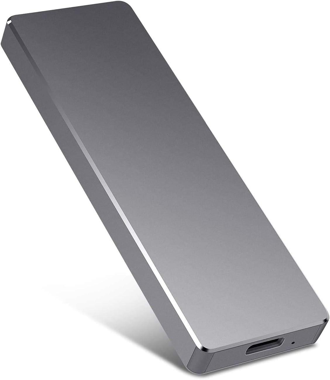 External Hard Drive, Hard Drive Portable Slim External Hard Drive USB 3.0 1TB 2TB Compatible with PC, Laptop and Mac(2TB Black)