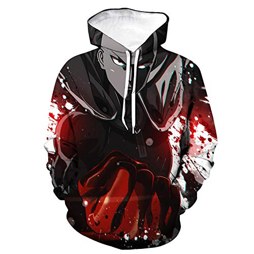 ryyhd Anime One Punch Man Hoodies 3D Print Cosplay Sudadera con Capucha Hombres Mujeres Moda Hip Hop Pullover Sport Casual Hoodie Tops Hombre-04_4XL