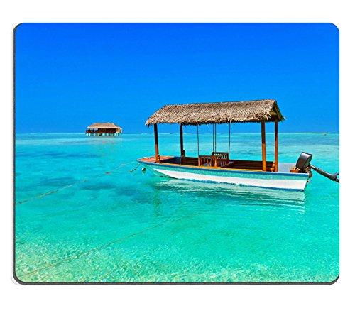 Mousepads Boot und Bungalow auf Malediven Insel Nature Travel Hintergrund Bild-ID 33647583von Liili Individuelle Mousepads fleckenresistenz Collector Kit Küche Tisch Top Schreibtisch Drink Individuelle fleckenresistenz Collector Kit Küche Tisch Top Schreibtisch