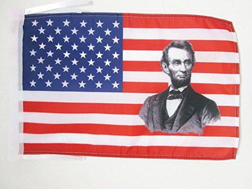 AZ FLAG Bandera de los Estados Unidos con Abraham Lincoln 45x30cm -...