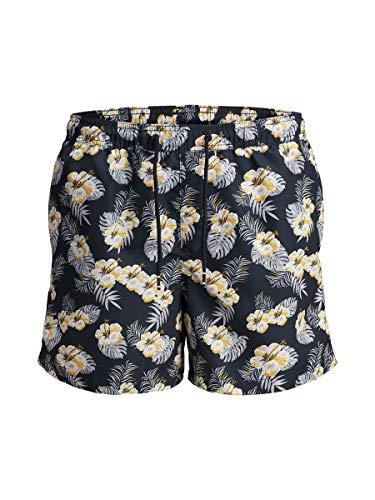 JACK & JONES Herren JJICALI JJSWIM AKM Windy STS Shorts, Mehrfarbig (Sky Captain), Small (Herstellergröße: S)