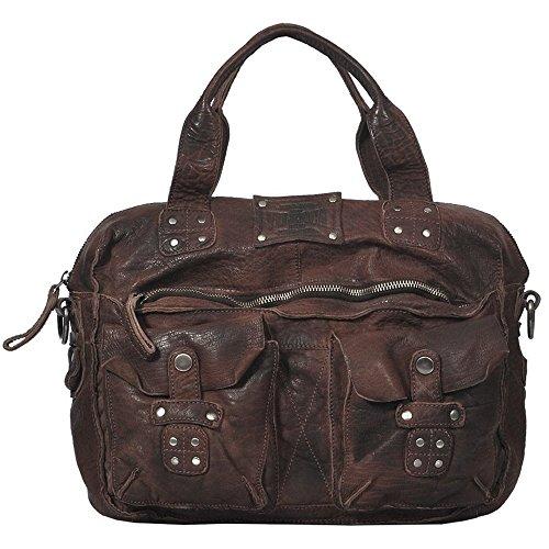 Vilenca Holland Unisex Laptoptasche Henkeltache Computertasche Vintagetasche Notebooktasche aus echtem Büffelleder