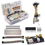 YOUNICER Kit de componentes electrónicos Resistencia para Condensador electrolítico Arduino Paquete básico Paquete de Paquete de diversión