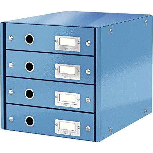 Leitz, Schubladenbox, Blau, 4 Schubladen, A4, Click & Store, 60490036