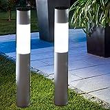GWソーラー【スタイリッシュモダンな光/ソーラーライト / 直径7㎝、高さ50㎝アルミポール/保証付き】ホワイト色・電球色スイッチで切替、IPX4、配線・電気工事不要、GWSOLAR アルミアプローチポールライト、高さ 50cm、自動点灯・自動消灯、簡単設置・ネジ止め・挿し込み可、お庭/玄関先/階段/デッキ/ガーデンの灯 (型番: GW-AL102-50)Amazon倉庫より直接お届けいたします。 (高さ50㎝:1個入り) (2個組:高さ50㎝)