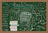 新しい2.1×1.5mVinyl写真の背景学校に戻るバナー教育用落書き黒板背景写真スタジオの背景学生教師写真小道具Photobooth