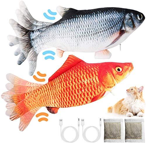LISM Katzenspielzeug Fisch (2 Stück) Katzenspielzeug Fisch Elektrisch USB Elektrisch...