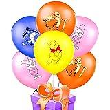 24Pcs Pooh Winnie Balloons Set HANEL-Winnie Pooh Cartoon Character Latex Multicoloured Balloons Birthday Party Balloon Decoration for Kids Birthday, Wedding, Anniversary,Garden Party Decoration
