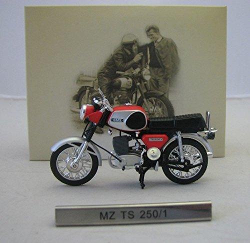 Motorrad MZ TS 250 / 1 rot Atlas Modellmotorrad DDR 1:24