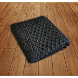 Aran Woollen Mills 100% Wool Blanket with Honeycomb Knitted Design, Charcoal Colour