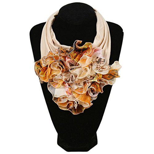 Xuniu Bufanda De Cuello De Mujer, Bufanda Floral del Cuello De Las Mujeres Bufanda Impresa Flor Floral del Cuello del Pañuelo Estilo 5