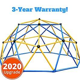 Zupapa 2020 Upgraded Outdoor Geometric Dome Climber with 750LBS Weight Capability, Suitable for 1-6 Kids Climbing Frame