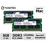 Timetec Hynix IC 8GB(2x4GB) MAC用 DDR3 1333 MHz PC3 204 Pin SODIMM Apple専用増設メモリ 永久保証 (8GB(2x4GB))