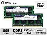 Timetec Hynix IC compatible with Apple 8GB Kit (2x4GB) DDR3 1333MHz PC3-10600 SODIMM Memory Upgrade For Selected MacBook...