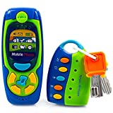 Product Image of the Toysery Cell Phone and Key Toy Set for Kids - Pretend Play Electronic Learning...