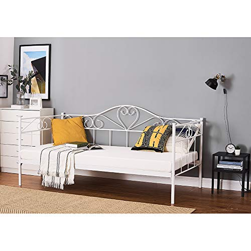 Panana New Heart Design 3FT Metal Daybed Guest Bed For Guest Room Children Bedroom