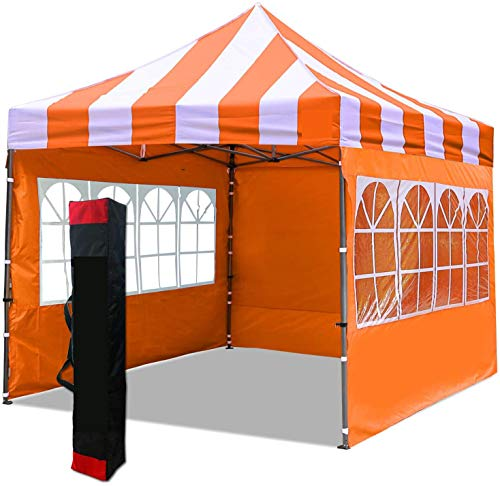 with 4 Walls, Handbags pop-ups, Gazebo, Suitable for hot tub, Commercial Exhibition, Party, Outdoor Sports,Orange