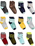 Simple Joys by Carter's 12-Pack Sock Crew Calcetines, Multicolor (Monsters), ((Talla del...