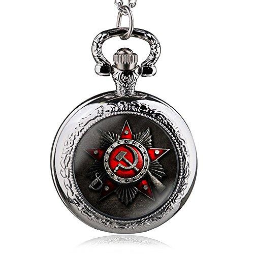 HWCOO Taschenuhren Russische Flagge Symbol Quarz Taschenuhr Uhren (Farbe : 2)