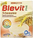 Blevit Plus 5 Cereales para bebé, 1 unidad 600 gr. A partir de los 5 meses.