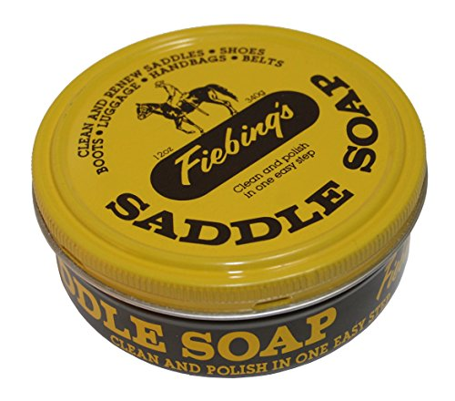 Fiebing's Yellow Saddle Soap, 12 oz - Cleans, Softens and Preserves Leather
