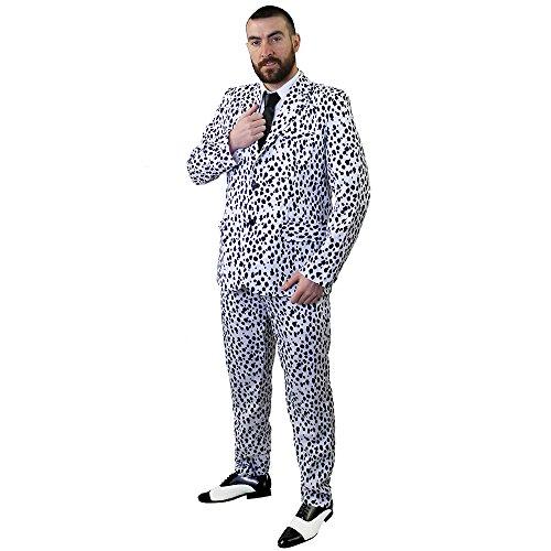 I Love Fancy Dress ilfd4579s Dalmata stampa tuta costume, ideale come un costume di Halloween, taglia: Small S