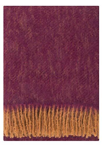 Lapuan Kankurit Revontuli Mohair-Wolldecke 130x170 cm rost, Bordeaux
